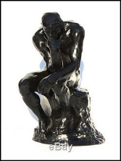 Auguste Rodin Rare Sculpture Bronze Penseur Le Grand Penseur Signé Création