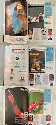 Ayrton Senna Et Nigel Mansell Ont Signé 1992 Le Programme Du Grand Prix De Formule Un Aftal