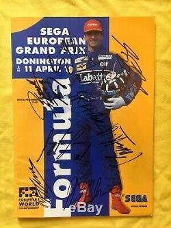 Ayrton Senna, Michael Schumacher Signé Programme Du Grand Prix De Formule Un Aftal