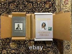 Barack & Michelle Obama A Promised Land & Becoming Signed Deluxe Edition Books
