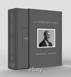 Barack Obama A Promised Land Deluxe Autographié Navires Signés Fast Gratuit