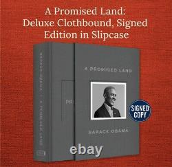 Barack Obama A Signé Une Promesse Land Deluxe 1ère Édition Dédicacée Scellé Nouveau