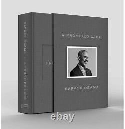 Barack Obama A Signé Une Promise Land Deluxe 1ère Édition Dédicacée Pré-commande