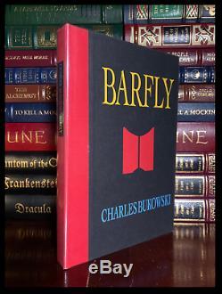 Barfly Signé Par Charles Bukowski Mint 1er Imprimer Livre Relié Deluxe Limitée 1/200