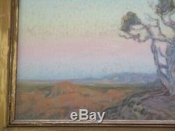 Beaux Ferdinand Burgdorff Dessin Au Pastel Grand Canyon Américain Antique Vieux Désert