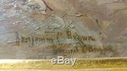 Benjamin Brown -grand Canyon Oil Peinture- Impressionist Important