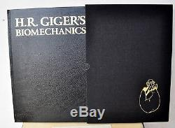 Biomécanique H R Giger Deluxe En Cuir Le1 / 300 Signé Litho Necronomicon Qliphoth