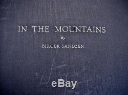 Birger Sandzen Dans Les Montagnes Signé Deluxe Edition Avec Imprimer