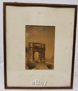 Bon, Santique Signé Peinture Grand Tour Aquarelle Rome George Allen Rudd 1878