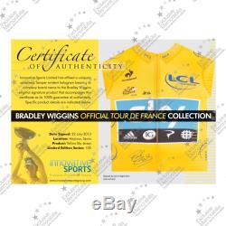 Bradley Wiggins Signés Tour De France 2012 Jersey Cadre Deluxe Memorabilia