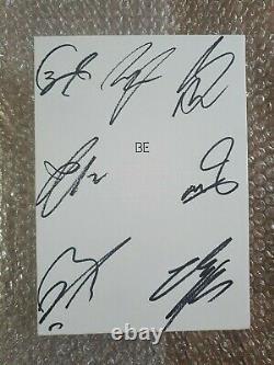 Bts Bangtan Boys Promo Be Deluxe Edition Album Autographié Signé À La Main Ensemble Complet