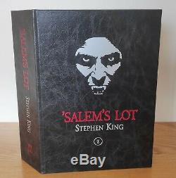 C / W Création Lot De Stephen King Signed'salem Deluxe Lettered 1/26 Édition