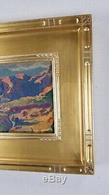 Californie Artiste Rey. Peinture À L'huile Fine Plein Air Gem Grand Canyon Paysage