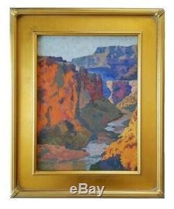 Californie Artiste Rey. Peinture À L'huile Grand Canyon Du Sud-ouest Paysage Plein Air