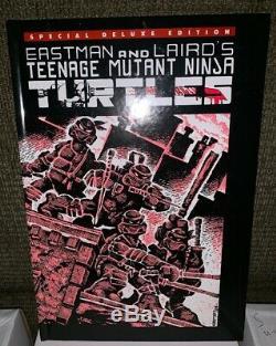 Chez Les Adolescentes Mutant Ninja Turtles # 1 Special Deluxe Relié! Signé! Tmnt (hc)