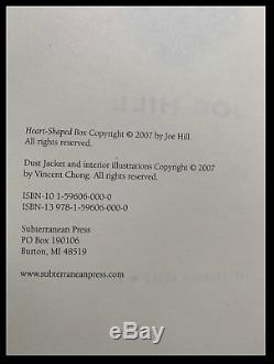 Coeur En Forme De Boîte Signe Joe Hill New Subterranean Press 1st Limitée Deluxe Imprimer