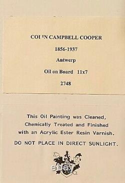 Colin Campbell Cooper Na Listed Study For Grand Plaza Antwerp Oil On Bd C1900