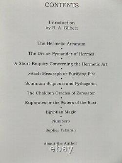 Collectanea Hermetica Par William Wynn Westcott / Signé, Cuir Deluxe Bound