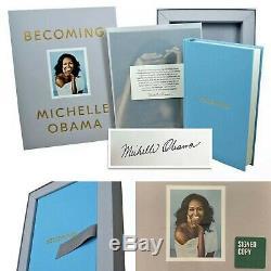 Copie Signée Becoming Luxe Boîte-cadeau Par Obama Michelle Autograph 1er Ed