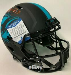 Dan Marino Signé Riddell Dolphins Full Speed taille Eclipse Deluxe Casque Bas Itp