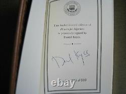 Daniel Keyes A Signé Des Fleurs Pour Algernon Easton Press Deluxe Ed. Cuir Neuf