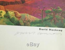 David Art Hockney Signe Affiche Venise Promenade Californie Bigger Grand Canyon Rare