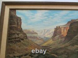 Dawes Clarke 36 Large Grand Canyon Painting American Desert Mountain Landscape