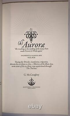Deluxe Limited First Ed, (h)auroræ, Par G. Mccaughry, Occult, Anathema Publishing