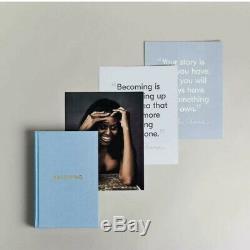Devenir Michelle Obama A Signé Le 1er Ed Deluxe Edition Scelles Boîte-cadeau