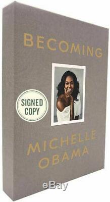 Devenir Par Michelle Obama (deluxe Signé Ed / Hc Slipcased- Tout Neuf)