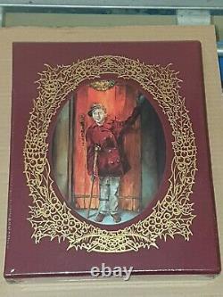 Easton Press A Christmas Carol Deluxe Limited Illustré Signé Par Cangilia Nouveau