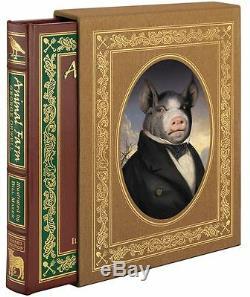 Easton Press Animal Farm Deluxe Illustrated Orwell Signée Par Artiste Scellés