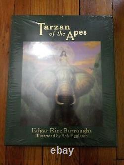 Easton Press Tarzan De L'édition Deluxe Apes Burroughs De 800 Signée Scellés