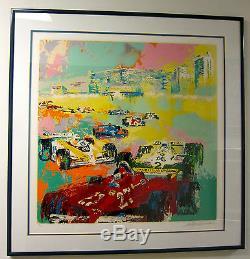 F1 1981 Leroy Neiman Serigraph Du Palais Des Caesar Du Grand Prix Gilles Villeneuve