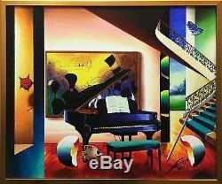 Ferjo Piano À Queue Originale Huile / Toile 20x24 Encadrée Autres Disponibles