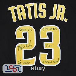Fernando Tatis Jr. Signé 1ère Carrière Grand Chelem Jeu D'occasion Jersey USA Sm Loa