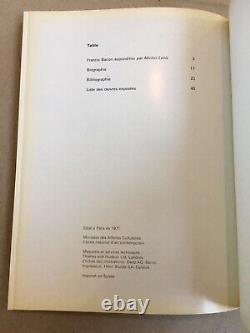 Francis Bacon Grand Palais Paris 1971-72 Signé - Inscrit Rare