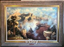 Fred Lucas Arizona Le Grand View Grand Canyon Huile Sur La Toile À Couper Le Souffle