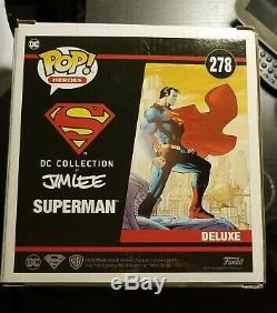 Funko Heroes Pop DC Deluxe Superman # 278 Jim Lee Signé Tom Welling Smallville