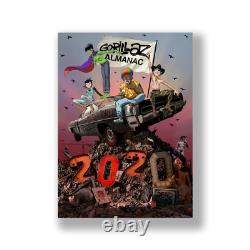 Gorillaz Almanac 2020 Deluxe Limited Edition Signé Sticker Sheet Book 1/1 CD