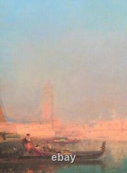 Grand 19ème Siècle Venice Sunset Landscape Grand Canal Felix Ziem (1821-1911)
