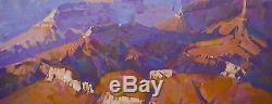 Grand Canyon Huile Originale Peinture Sur Toile De Grande Taille À La Main Un D'un Genre