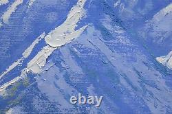Grand Tetons Snow Mountain Peinture Wyoming Paysage Huile D'art Américain