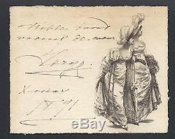 Grand-duc Sergei Romanov Russie Impériale Antique Signé Carte De Noël 1891