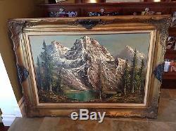 Grande Originale Peter Tensley Peinture À L'huile Parc National De Grand Teton