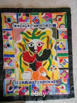 Haïti Haïti Art Voodoo Drapeau Grand Bois (forêt Esprit) Par Yves Thelemaque