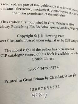 Harry Potter Et La Chambre Des Secrets Du Royaume-uni 1/1 Deluxe Signé Par Jk Rowling