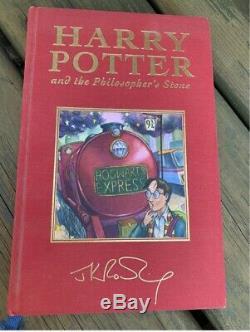 Harry Potter Et La Pierre Philosophale Signé / Deluxe Uk First Edition