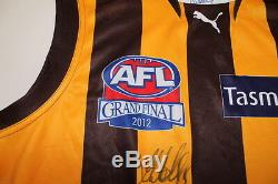 Hawthorn Grande Finale Match Jersey 2012 Signé Luke Hodge Comes With Coa