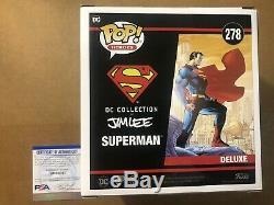 Henry Cavill Signé Funko Inscription Deluxe Superman Autograph Witcher Psa Coa
